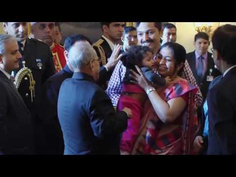 President launching Nationwide Polio Programme by administering Polio Drops to the Children
