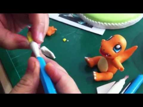 Abby Guillergan Makes A Gum Paste Charmander Youtube