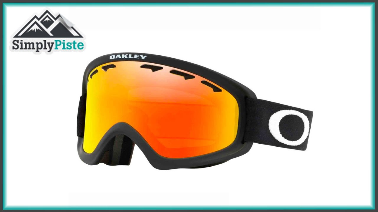 Oakley A Frame Goggle Jet Black And Fire Iridium Lens