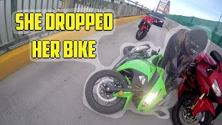 Motovlog 25 - She dropped her bike!