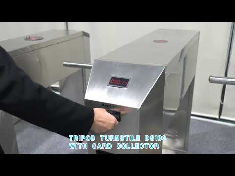 Daosafe DS103 Tripod Turnstile Gate With Card Collector And Coin Collector!