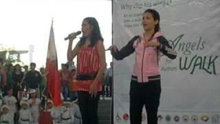 Thara singing Lupang Hinirang w/ Karylle