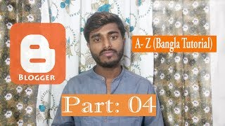 How to create Drop-down Menu in Blogger Part-04 (Bangla-2019)