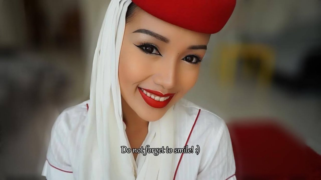 my emirates cabincrew make-up i justduy - youtube