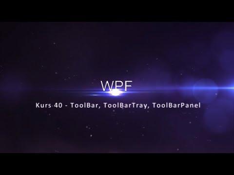 Kurs 40 - ToolBar, ToolBarTray, ToolBarPanel