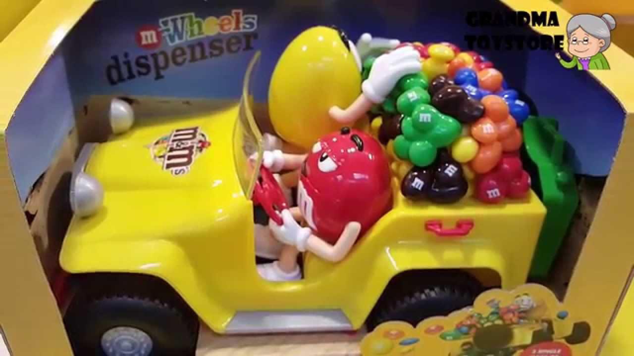 Unboxing Toys Review Demos M M Dispenser Spender Car