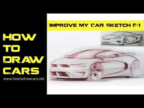 Car Design Drawing - Improve My Car Sketch! 1