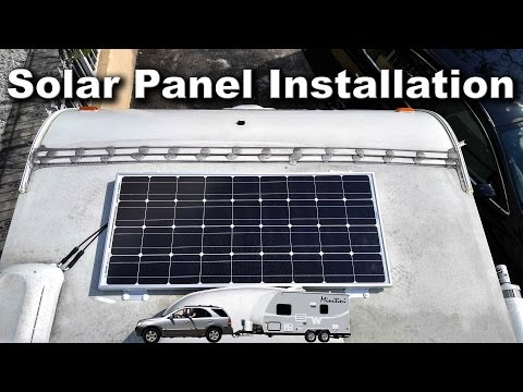 Solar Panel Installation 4K | Traveling Robert