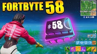 Fortnite Fortbyte 58 🎺 Sad Trombone | All Fortbyte Locations Season 9 Utopia Skin Deutsch