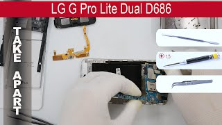 How to disassemble 📱 LG G Pro Lite Dual D686, Take Apart, Tutorial