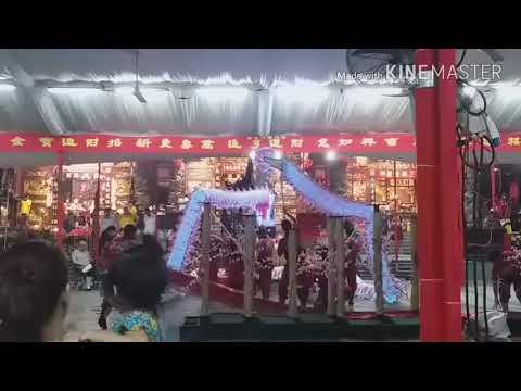 Singapore Nan Shao Lin LED Dragon Dance Performances at 龙山岩 Temple on Day 15 of CNY 2/3/18