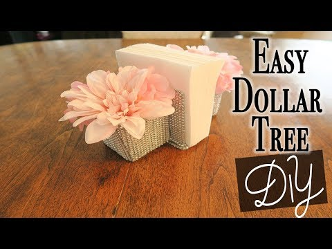 Easy Dollar Tree DIY - Glam Napkin Holder ~ Relaxing DIY
