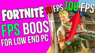 *UPDATED* FORTNITE - INCREASE FPS FIX LAG HOW TO RUN FORTNITE ON LOW END PC AND LAPTOP