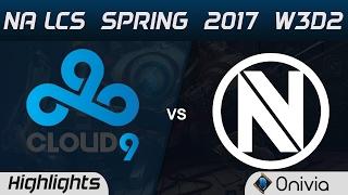 C9 vs NV Highlights Game 2 NA LCS Spring 2017 W3D2 Cloud9 vs EnvyUs