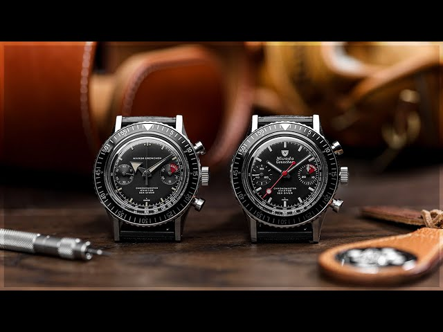 These might be the perfect re-issue watches! | The Nivada Grenchen Chronomaster Aviator Sea Diver