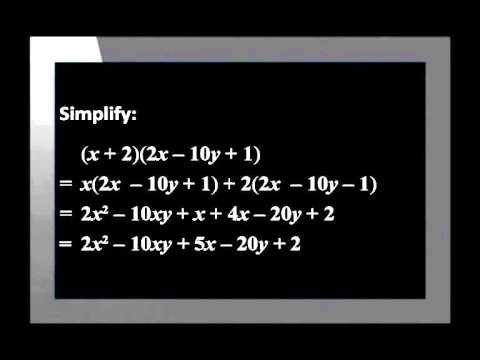 Multiplying A Binomial By Trinomial