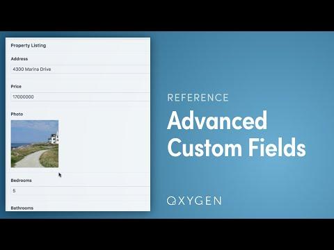 Advanced Custom Fields - Oxygen
