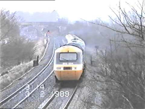 Class 43 HST 253 084, Westbury 13.02.1989 - Paxman Valenta