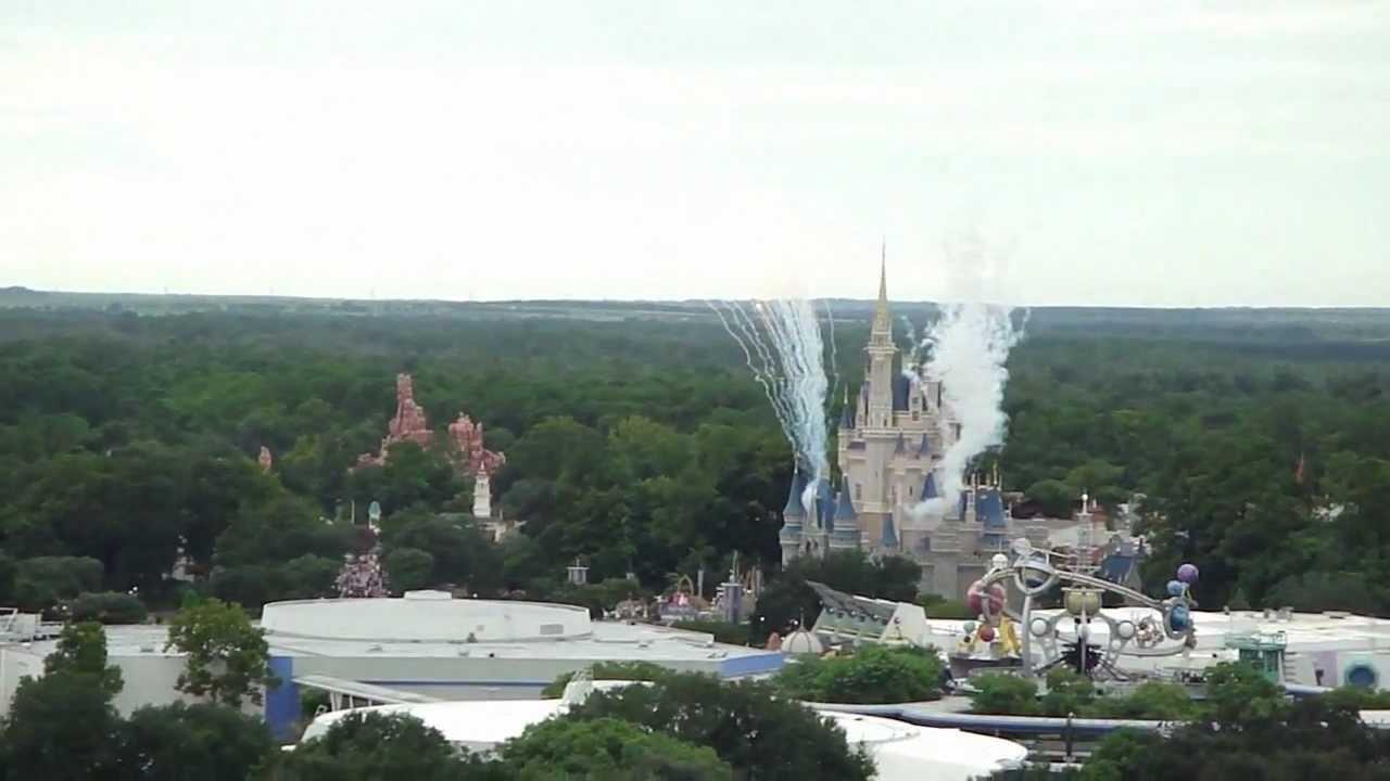 Disney 39 S Contemporary Resort Rooftop View In 720p Hd Disney World Viyoutube
