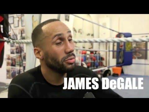 JAMES DeGALE ON FRUSTRATION OF NOT FIGHTING IN UK, TALKS ROGELIO MEDINA MANDATORY, GROVES & HEARN .