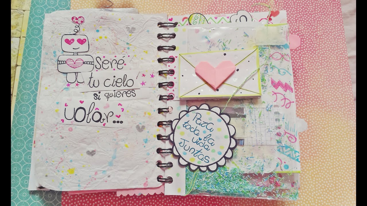 Como Hacer Un Libro Con Fotos Libro Para Mi Novia 1 3 Esther Scrap Youtube