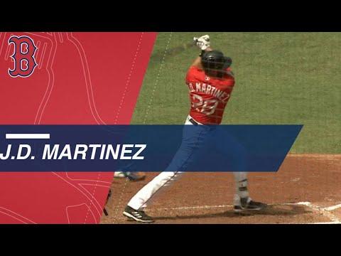 J.D. Martinez's three-hit game