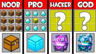 Minecraft - NOOB vs PRO vs HACKER vs GOD : SUPER CHEST in Minecraft ! AVM SHORTS Animation
