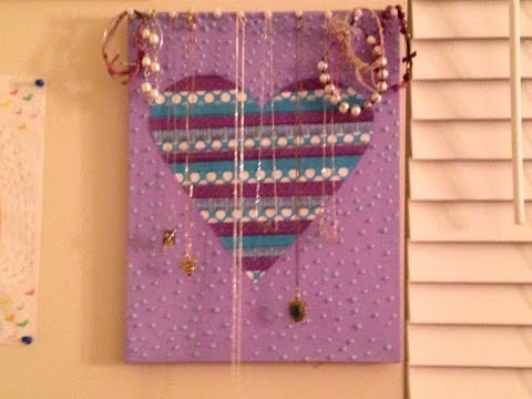 DIY: Jewelry Canvas/ Puffy Paint