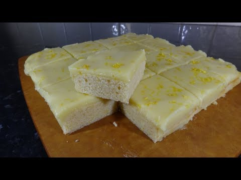 Lemon & White Chocolate Squares