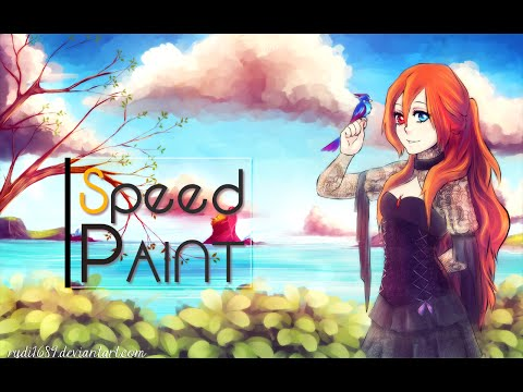 The days | Painting Red Haired character in SAI