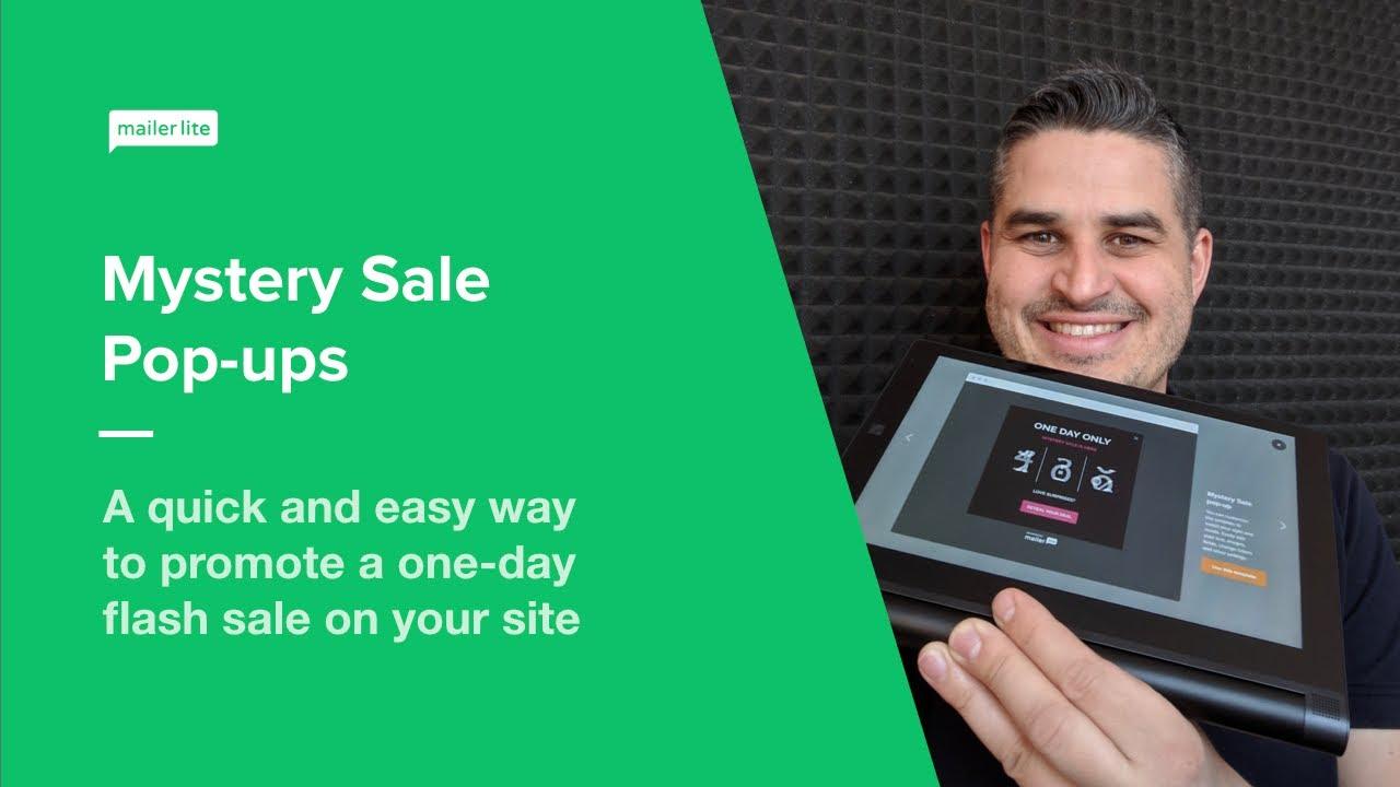Mystery Sale Promotion Pop-up