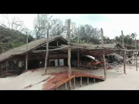 Guinjata Dive Centre destroyed when Cyclone Dineo hit
