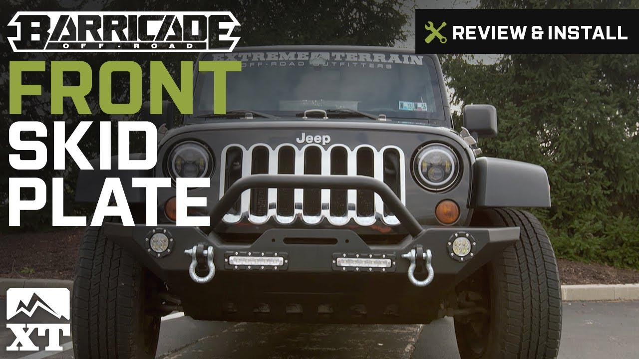 Jeep Wrangler Barricade Front Skid Plate Textured Black