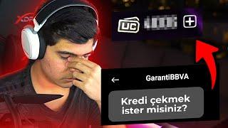 BATTIK 😢 O KADAR ÇOK UC BASTIM Kİ BANKA MESAJ ATTI! | PUBG Mobile