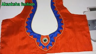 simple blouse design cutting and stitching