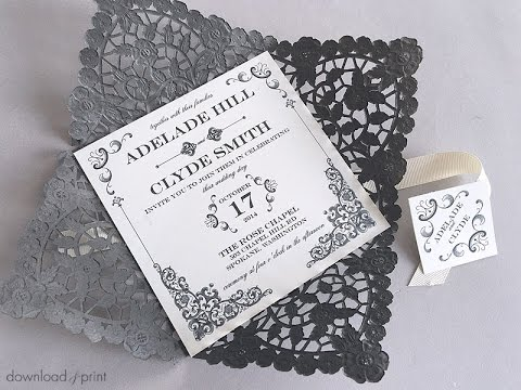 DIY Vintage Iron Wedding Invitation - YouTube
