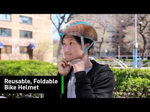 This Reusable, Foldable Bike Helmet Is Made From...Paper