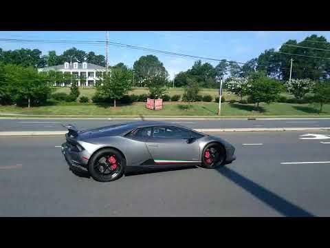 Lamborghini Huracan Performante and Volkswagen Beetle leaving caffeine and horsepower
