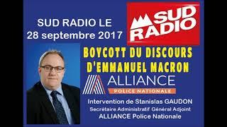 Boycott de l'intervention d'Emmanuel Macron