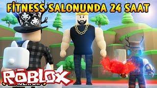 FİTNESS SPOR SALONUNDA 24 SAAT GEÇİRMEK! - Roblox