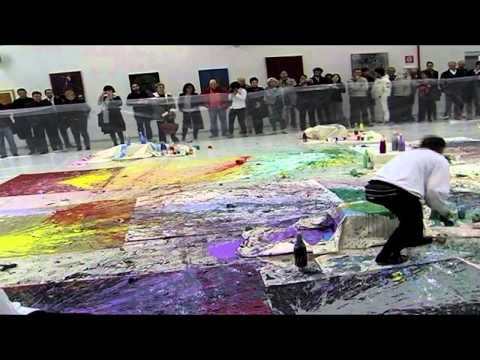 Shozo Shimamoto - Performance al Magi'900, Italy