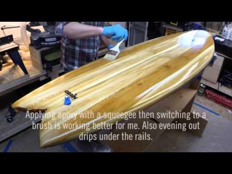 Grain Surfboard Build - Part 9, Hot Coat