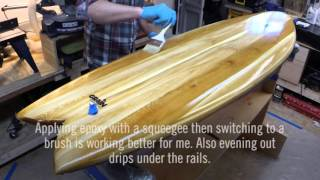 Grain Surfboard Build - Part 9, Hot Coat