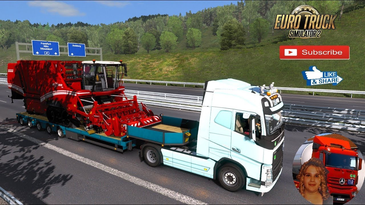 Euro Truck Simulator 2 (1 34) Overweight Trailers and Cargo Pack by  Jazzycat v 7 6 + DLC's & Mods