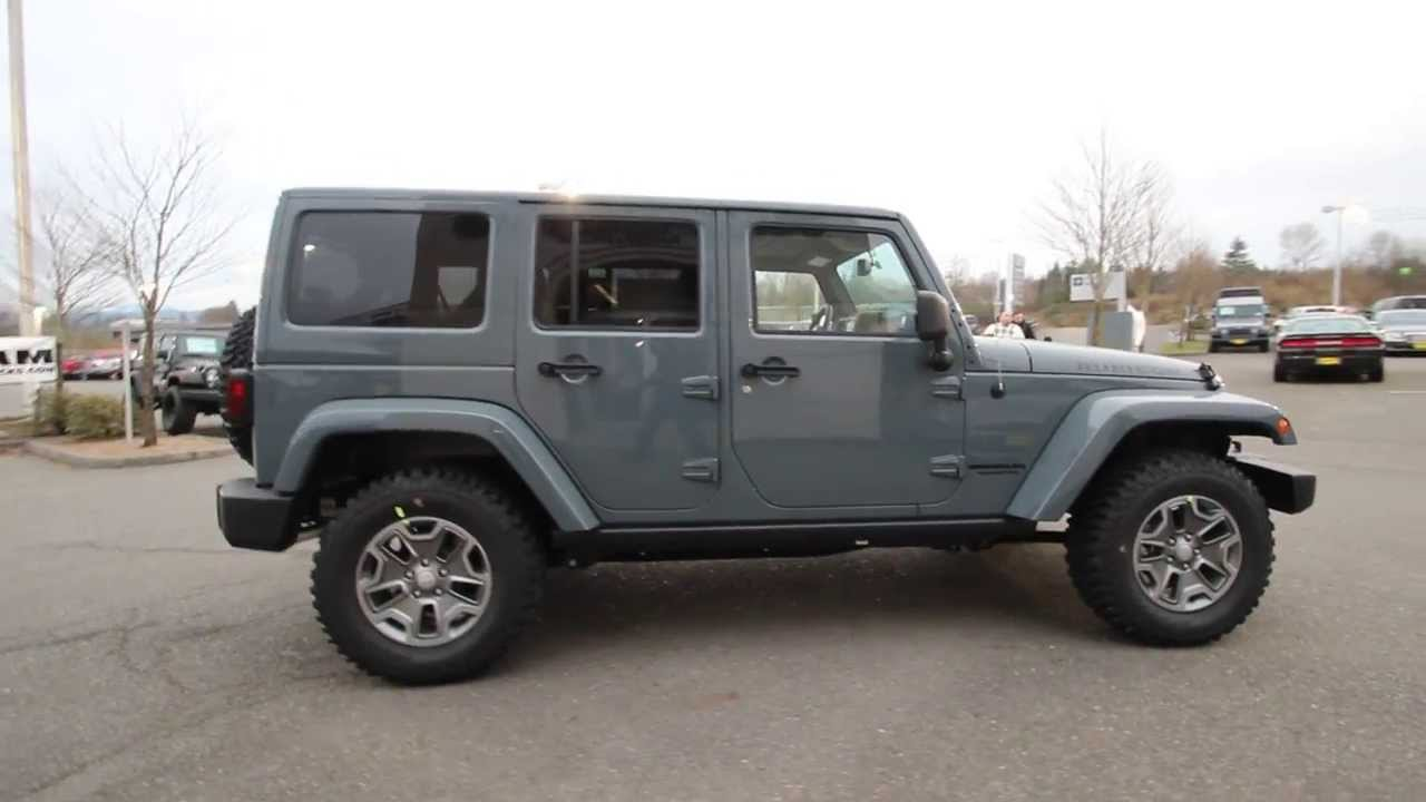 2014 Jeep Wrangler Unlimited Rubicon | Anvil Clearcoat | EL156339 | Everett  | Snohomish   YouTube