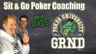 Sit & Go Poker Coaching mit Luis | GRND University Poker Training (10.03.2020)