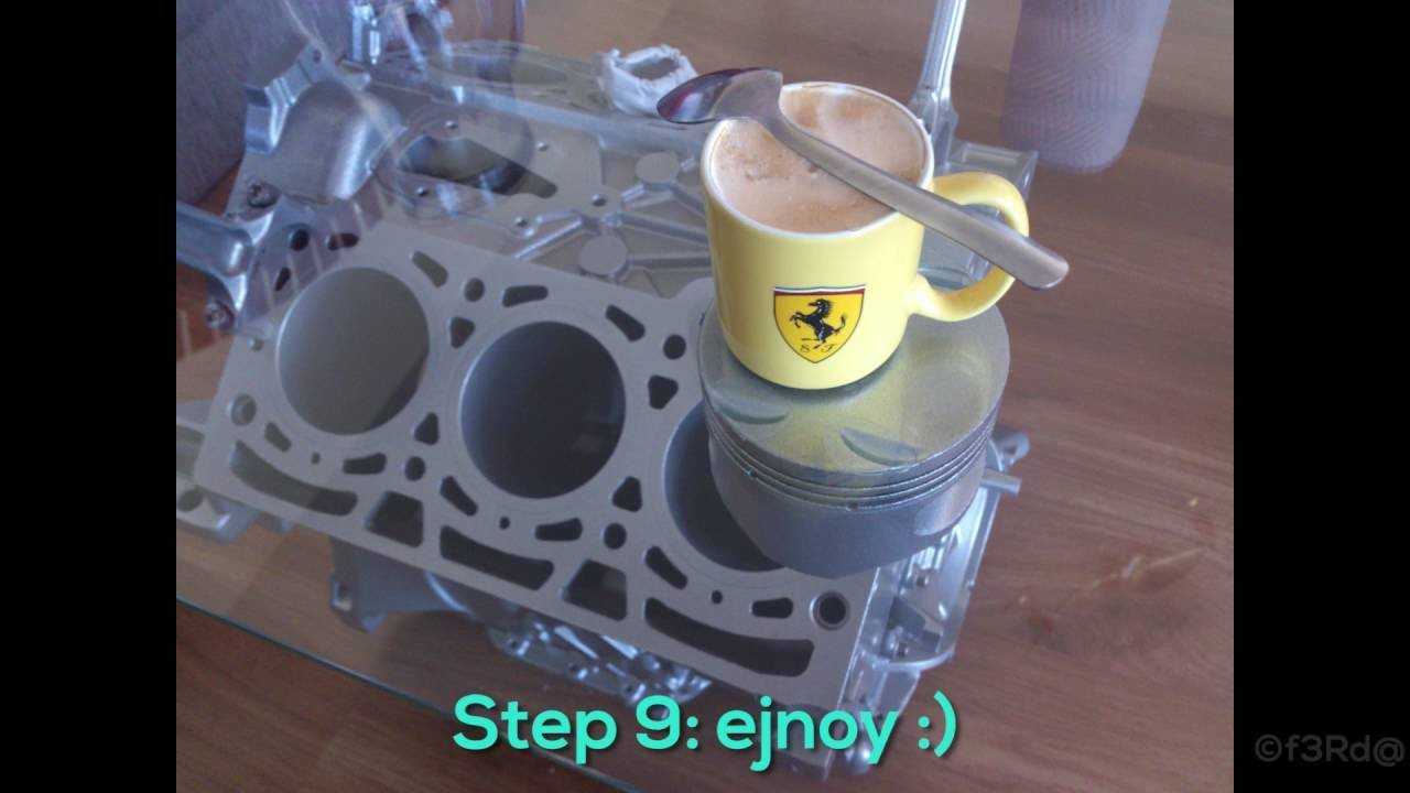 DIY: Engine Coffee Table with LEDs - Build - YouTube