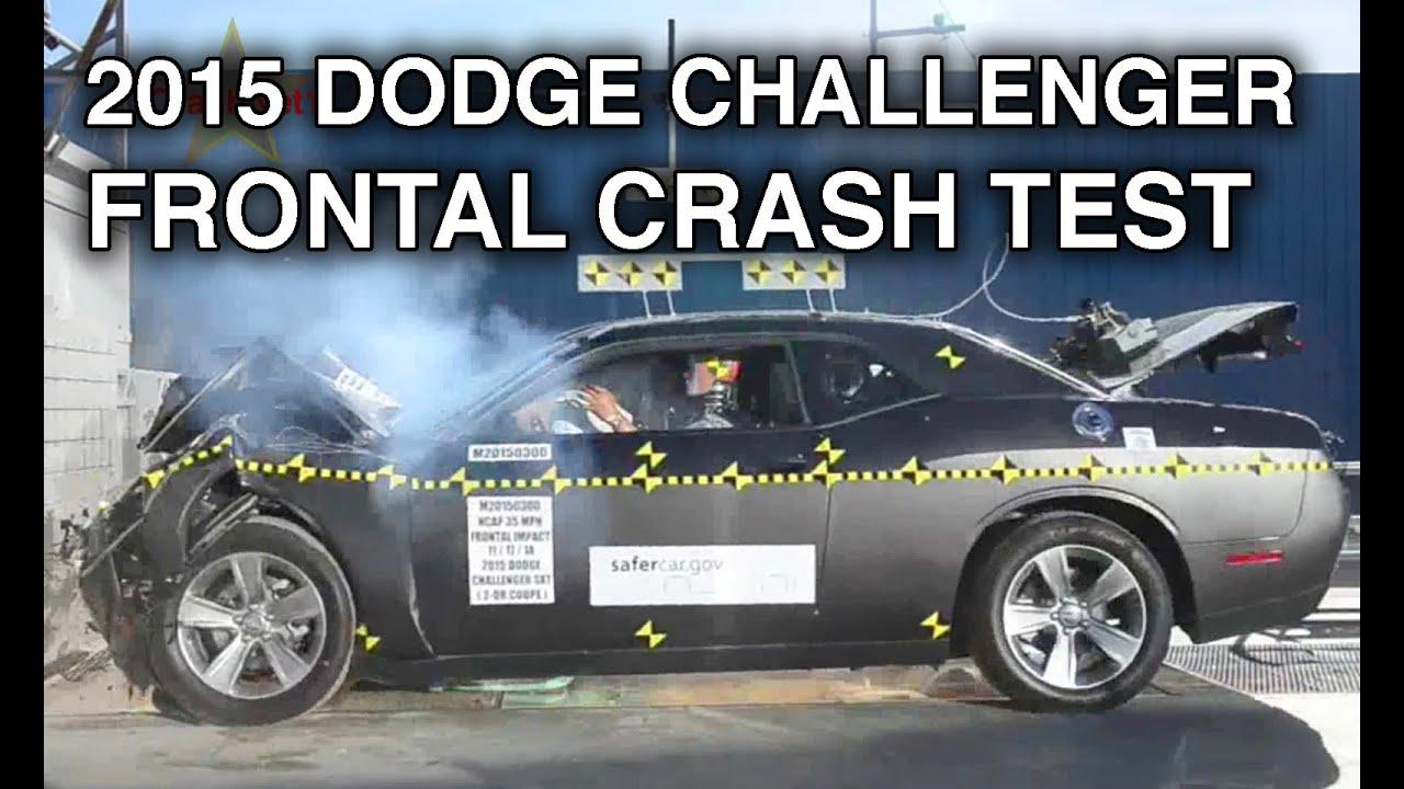 2015 dodge challenger frontal crash test youtube. Black Bedroom Furniture Sets. Home Design Ideas