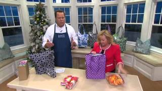 Sachi Insulated S/5 Foldable Market Totes w/Gift Boxes on QVC
