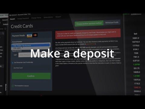 InterTrader Web-based Platform Guide: Make a Deposit
